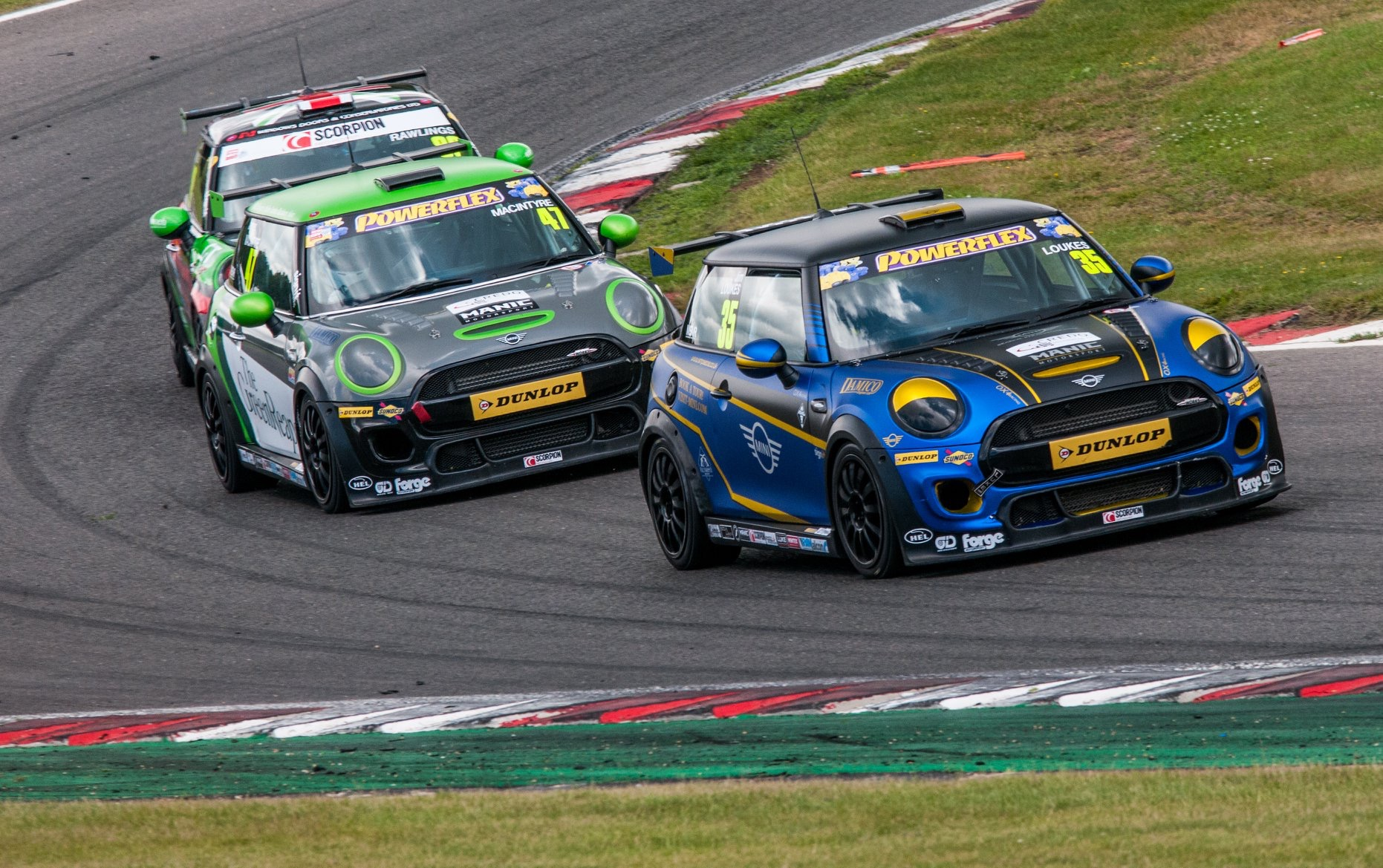 Mini's racing on track