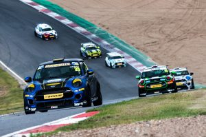 Minis on the race track